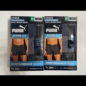 2 Sets Puma Performance Mens Boxer Briefs 6 Pack